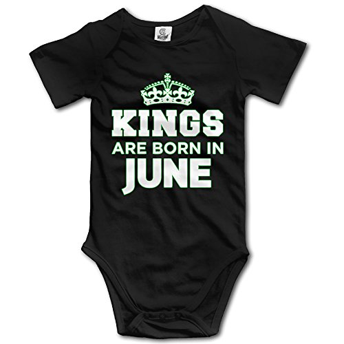 Kings Are Born In June Infant Short Sleeve Bodysuits Romper -