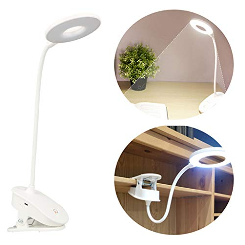 Dirance Dimmable Book Light, USB Charging LED Clip Table lamp Student Dormitory Reading Light USB Reading Eye lamp