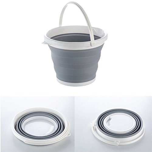 Alapaste Folding Round Tub,Collapsible Bucket, Foldable Water Container Portable Folding Wash Pail for Fishing, Camping, Car Washing, Home Storage and Outdoors Wash Pail Water Container -
