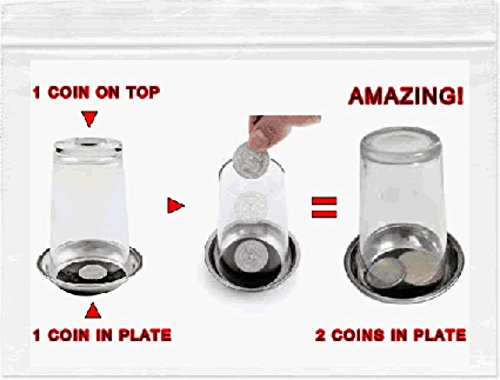 Great Magicians Set (EASY MAGIC TRICK: Buy Amazing greatest close up coin illusion kit. Kids beginners 2016 boys & girls 8+. With how to do video link. Best magician set. by Unknown)