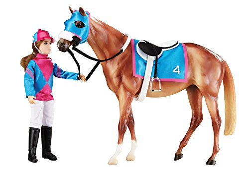 Breyer Let's Go Racing Toy (Horse Racing Figurines)
