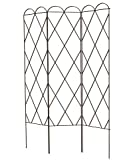Panacea Tri Fold Plant Support Trellis, Brown, 64'' H