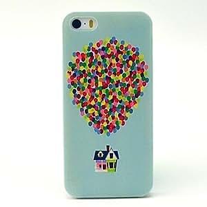 MOFY-Estuche r'gido globo pattern pc para el iphone 5 / 5s