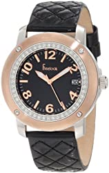 Freelook Women's HA1812G-3 Quilted Black Leather Watch