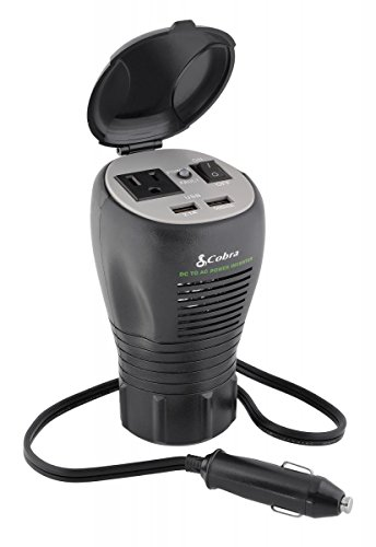Cobra CPI290CH 200W Cup-Holder Power Inverter, 2.4 USB 200w Cup Holder Design