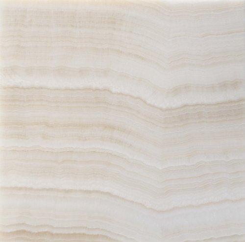 Premium White Onyx VEIN-CUT 12 X 12 Polished Tile - Box of 5 sq. ft.
