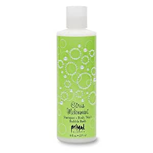 Primal Elements Shampoo, Body Wash, Bubble Bath, Citrus Melonmint, 8 Fluid Ounce