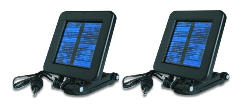 (2) MOULTRIE Game Camera 6 Volt Deluxe Solar Power Panels w/ Mounting Bracket