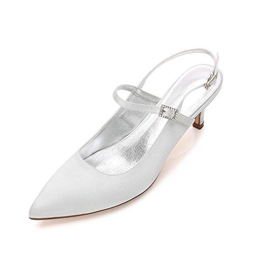 Abierta De Proms Punta 10 Zapatos Las Silver Kitten Banquete Mid Y99634 Low Corte Tacones Plataforma La L Mujeres Del yc Boda Altos Stiletto 0fnvvZ