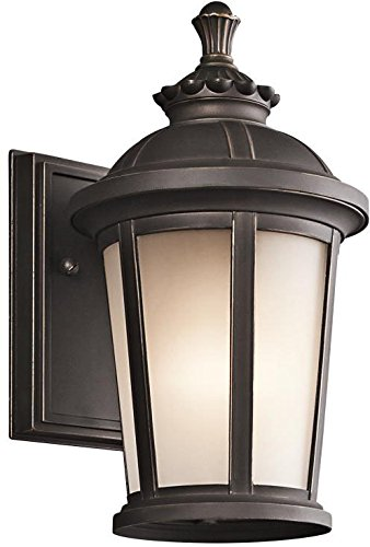 Kichler Black Floor Lamp - Kichler 49409RZ Ralston Outdoor Wall 1-Light, Rubbed Bronze