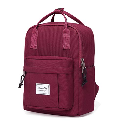 Mini Backpack for Women,Chasechic Cute Lightweight Small Fashion Backpack for Ladies Schoolbag Rucksack Wine Red ()