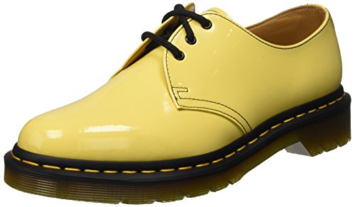 Dr. Martens 1461 Patent Acid Yellow, Zapatillas Altas Unisex Giallo (Acid Yellow)