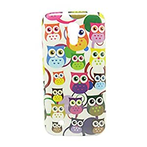 Cute Little Owls Pattern IMD Craft Hard Case for Samsung Galaxy S4 Mini I9190