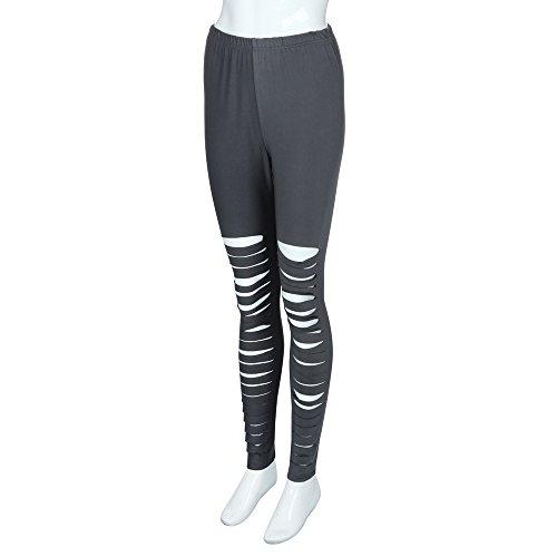 Sport Pantalon Skinny Pilates Sunenjoy Casual Yoga Taille Haute 5XL Grande Sexy Gris Amincissant XL Femme Mode Fitness Legging Trous Taille Stretch Gym z5xzgtI