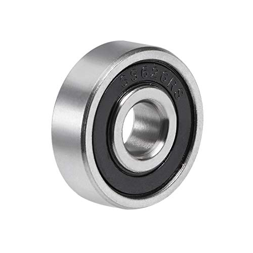 uxcell S626-2RS Stainless Steel Ball Bearing 6x19x6mm Double Sealed 626RS Bearings - Bearings Sealed 6mm Ball