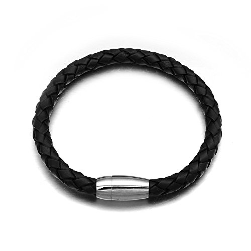 Ghome Leather Braided Bracelets Stainless