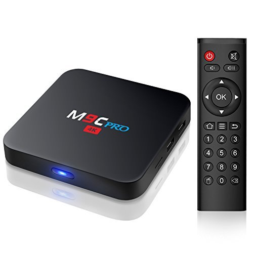 Bqeel M9C Pro Android TV Box 6.0 4K Amlogic S905X Chipset-Quad Core [1G/8G]Support Ultra-Fast Smart TV Box