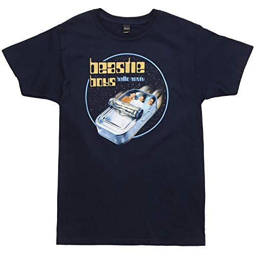 Beastie Boys Hello Nasty Men's T-Shirt - Navy Blue (Large)