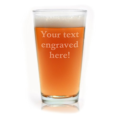 Personalized Pint Glass Engraved with Your Custom Text -