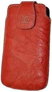 Suncase - Funda de cuero para Motorola Razr, color rojo