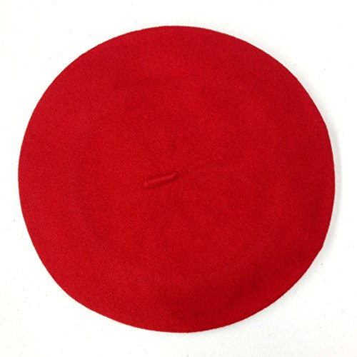 Classic French Beret (Adult)- 100% Wool - Red