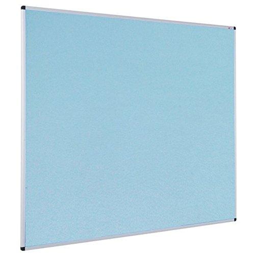VIZ-PRO Notice Board Felt Light Blue, 36 X 24 Inches, Silver Aluminium Frame -