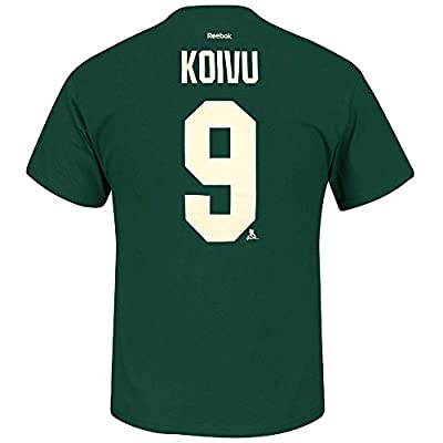 Mikko Koivu Minnesota Wild NHL Reebok Men Green Player Name & Number Jersey T-Shirt