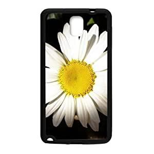 Big White Flowers Black Phone For Case Samsung Note 4 Cover