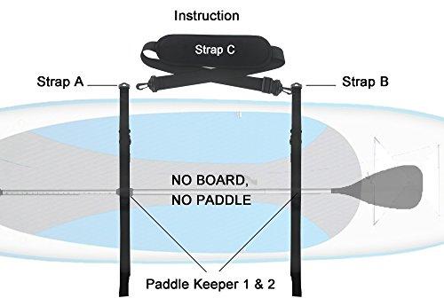 (YYST SUP Paddleboard Carrier SUP Shoulder Strap SUP Board Carrier - No Board No Paddle)