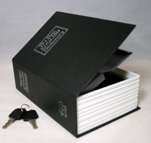 Brink Dictionary Book Safe, Black, Small