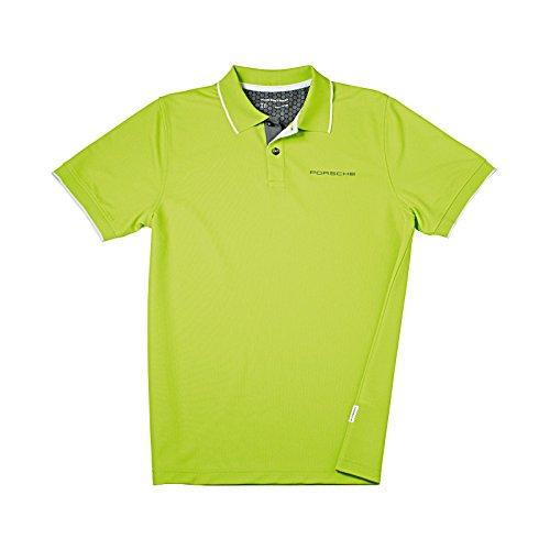Genuine Porsche Acid Green Wicking Golf Shirt - Size - Shirt Porsche Golf