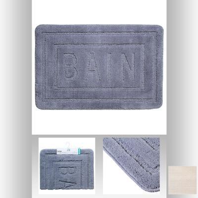 Tapis salle de bain Gris 90x60cm: Amazon.fr: Cuisine & Maison