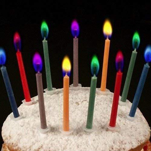 VlugTXcJ Globos coloreados cumpleaños Velas - Paquete de 12 ...