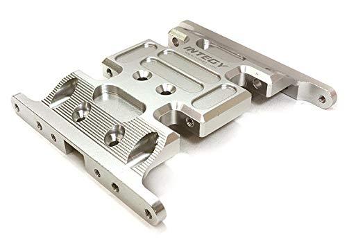 Integy RC Model Hop-ups C26712SILVER Billet Machined Center Gear Box Mount Skid Plate for Axial 1/10 SCX-10 - Gear Integy Box
