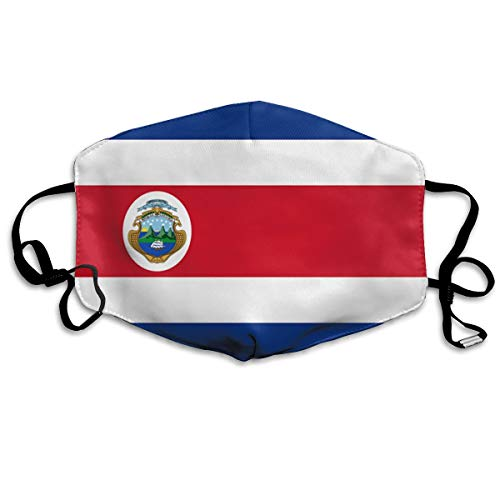 SyjTZmopre Flag of Costa Rica Celluloid Mouth Mask Unisex Printed Fashion Face Anti-dust Masks]()