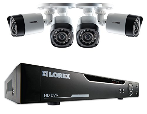 Lorex LHV10041TC4 4-Channel 1 TB Cloud Connect with 4 x 720p HD Cameras (Black)