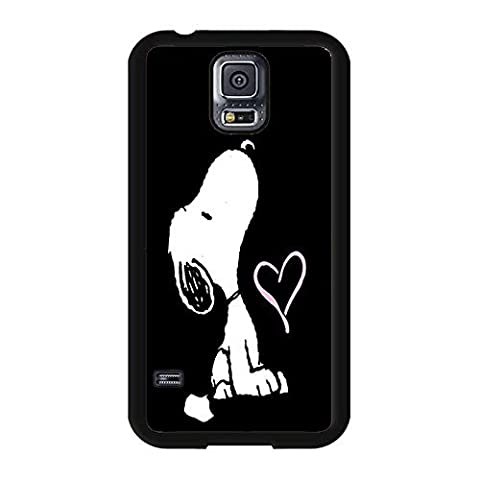 Samsung Galaxy S5 I9600 Phone Cover Shell Hipster Black Printed Peanuts Cartoon Snoopy Phone Case Cover for Samsung Galaxy S5 (Snoopy S5 Case)