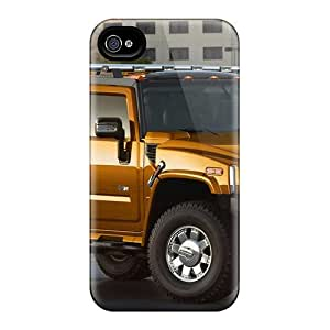 ConnieJCole Premium Protective Hard Case For Iphone 4/4s- Nice Design - Orange Hummer