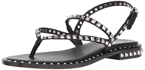 Ash Women's As-Peps Flat Sandal Black TQ9fbvlUh
