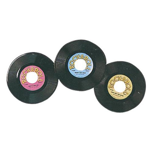 Dance Rock And Roll Costumes (Plastic Records Party Accessory (1 count) (3/Pkg))
