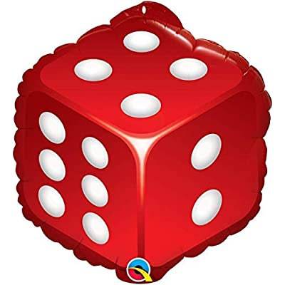 Mayflower Products Casino Night Party Supplies Cards and Dice Balloon Bouquet Decorations: Toys & Games