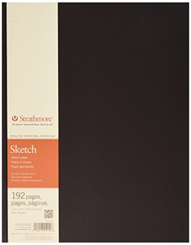 """Price comparison product image Strathmore 400 Series Hardbound Sketch Journal,  11"""" x 14"""" 192 Pages"""