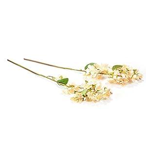 SHZONS Artificial Peach Flowers Bouquet For Home Wedding Decoration, Silk Fake Sakura Peach Blossom Centerpiece arrangements 2PCS 3