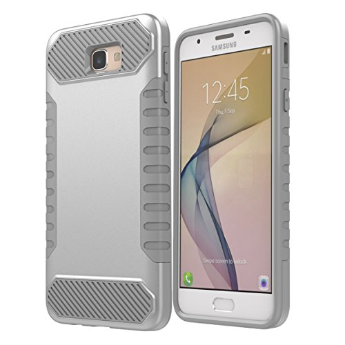 Slim Shockproof Case for Samsung Galaxy On7 (Silver) - 7