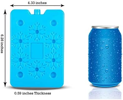 Blue Ele BE01 Ice Pack for Lunch Box and Cooler BPA Free Reusable and Long Lasting Slim and