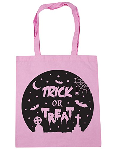 HippoWarehouse truco o trato Halloween Tote Compras Bolsa de playa 42cm x38cm, 10litros Classic Pink