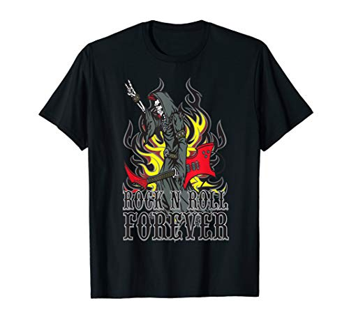 Grim Reaper Guitar Flames Horns
