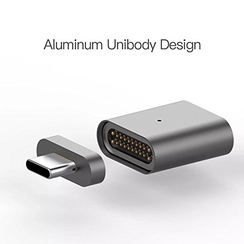 USB C Magnetic Adapter for MacBook Pro 2018 Magsafe Magnetic Adapter 87W Magnetic USB C Adapter Fast Charging USB Type C to USB C Charger Converter for USB C Device(Gray Space) by Snapnator