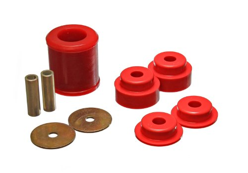 Energy Suspension 7.1119R Differential Carrier Bushing Set Red Rear Performance Polyurethane Differential Carrier Bushing Set