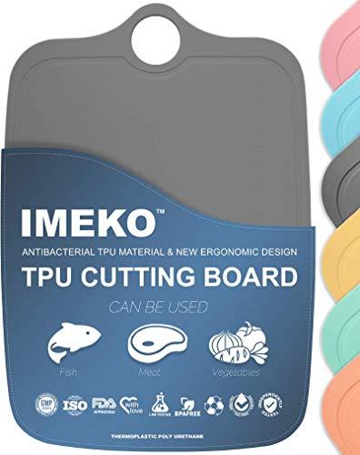 IMEKO New 2019 Kitchen Ergonomic Design TPU Cutting Board - Flexible, Food Safe,...